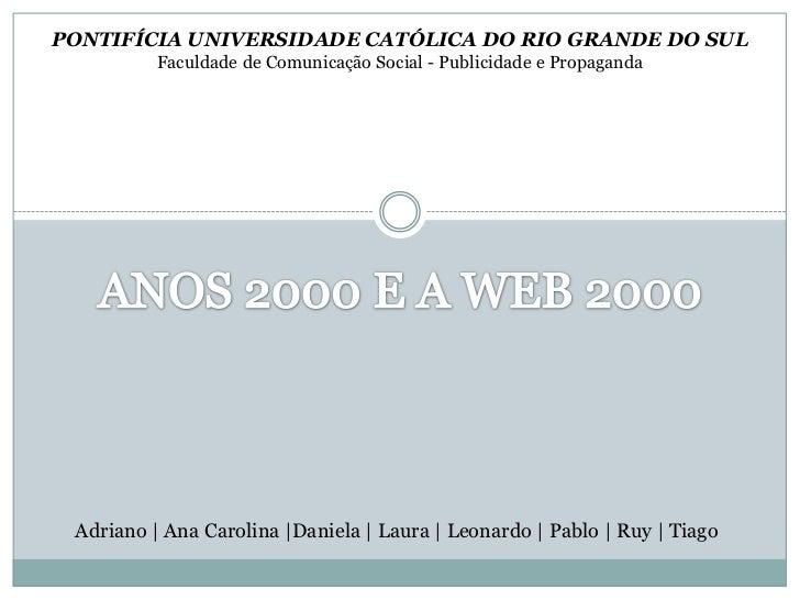 PONTIFÍCIA UNIVERSIDADE CATÓLICA DO RIO GRANDE DO SUL<br />Faculdade de Comunicação Social - Publicidade e Propaganda<br /...