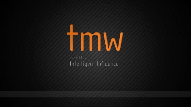 Intelligent Influence:Poking the hornet's nest ofmeasurementJulie RobertsHead of Marketing Effectiveness@tmwagency+44 (0)2...