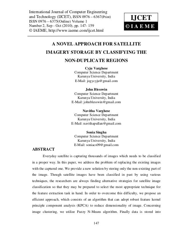A novel approach for satellite imagery storage by classify