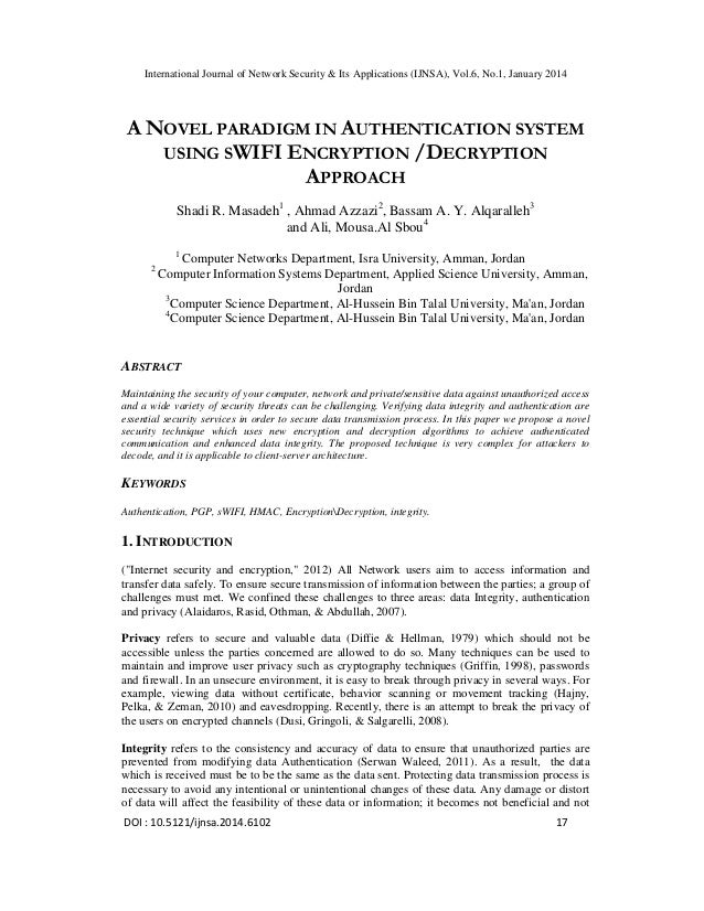 A novel paradigm in authentication system