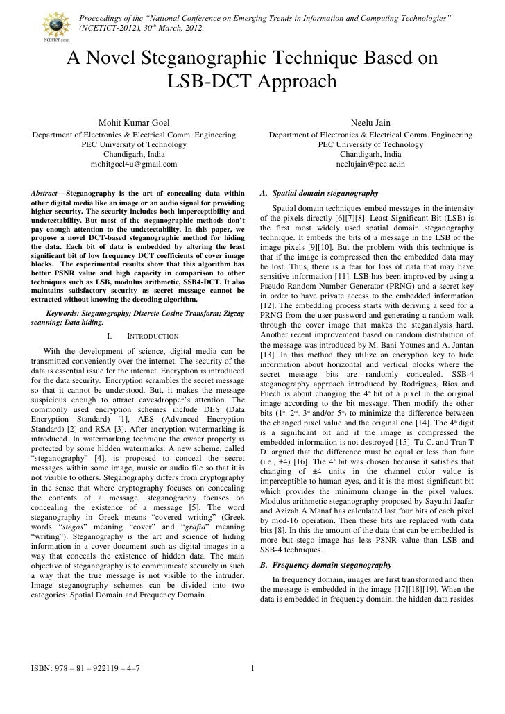 """Proceedings of the """"National Conference on Emerging Trends in Information and Computing Technologies""""              (NCETIC..."""