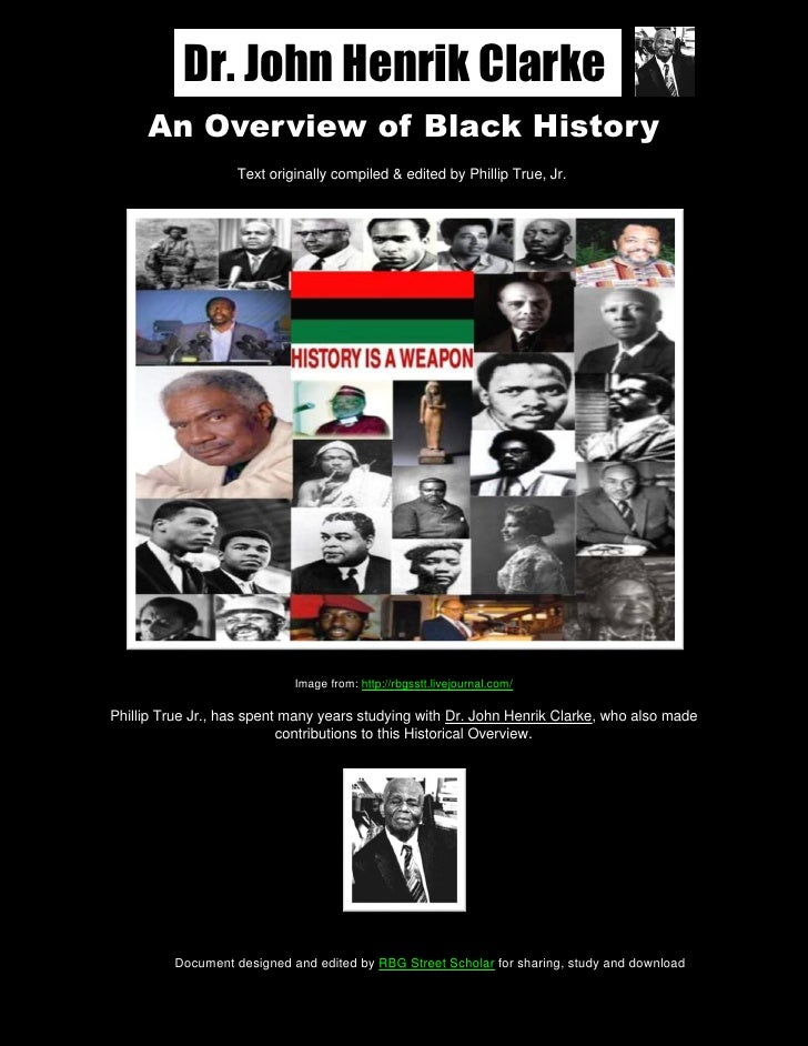 An Overview of Black History, By John Henrik Clarke & Phillip True, Jr