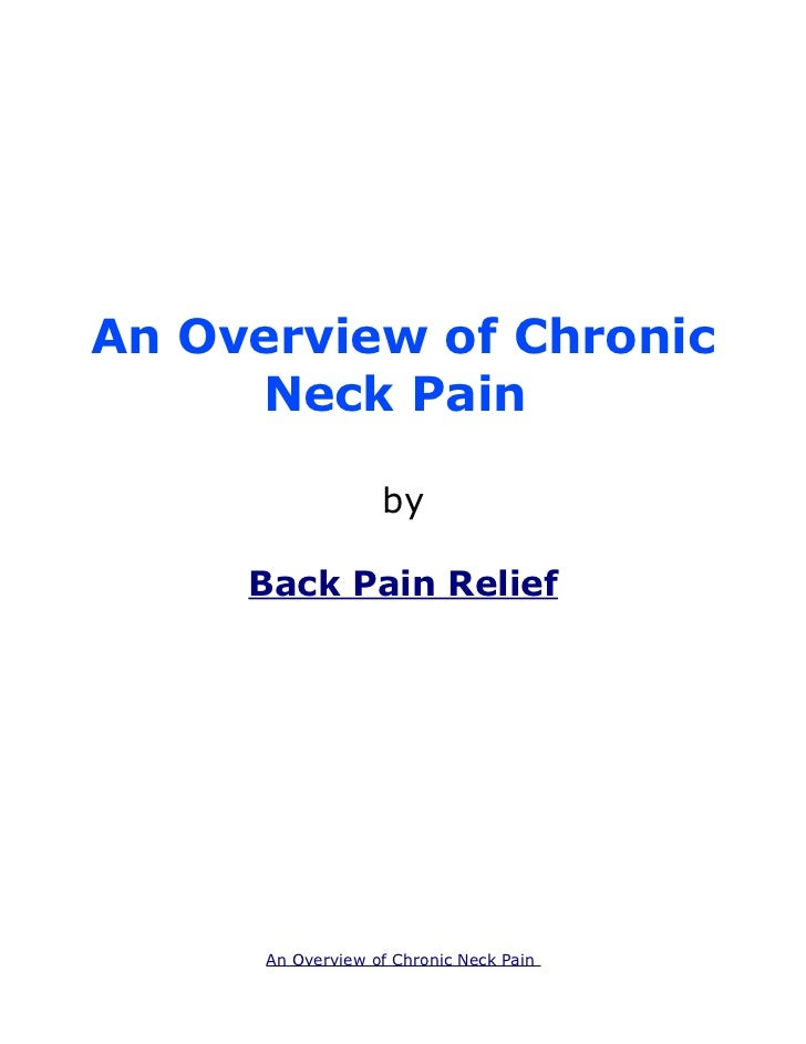 An Overview of Chronic Neck Pain