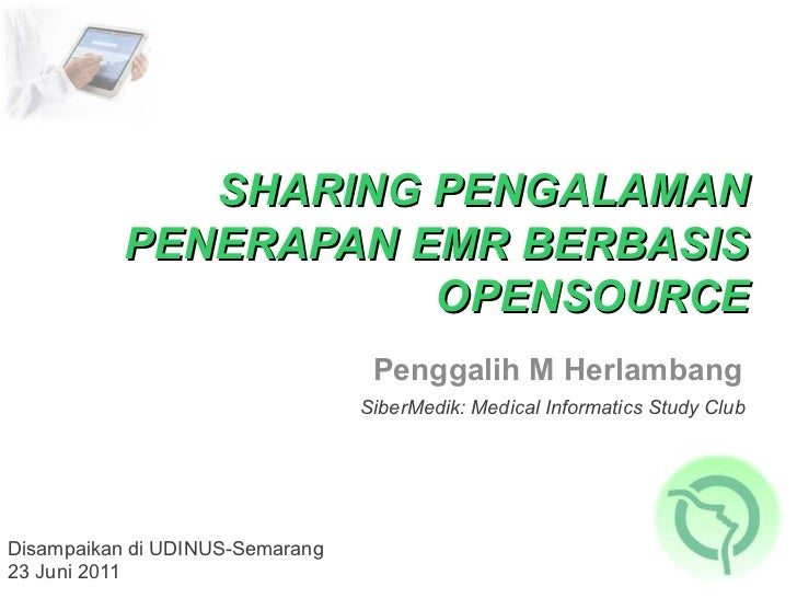Sharing Implementasi EMR berbasis Open Source