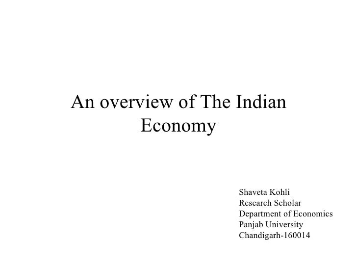 An overview of the indian economy