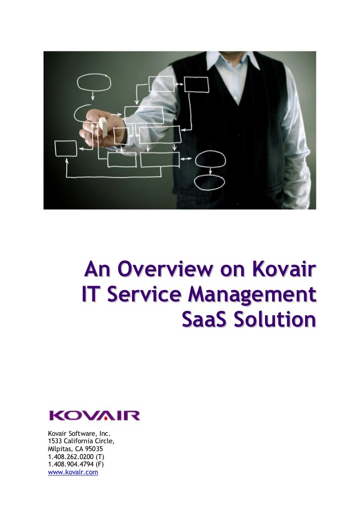 An Overview on Kovair IT Service Management SaaS Solution