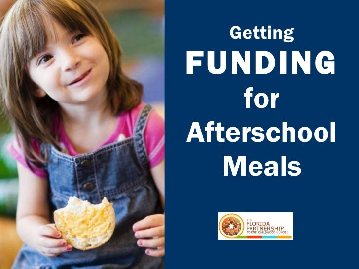 Getting  FUNDING for Afterschool Meals