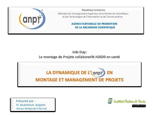 La dynamique de l'ANPR en montage de projets européens