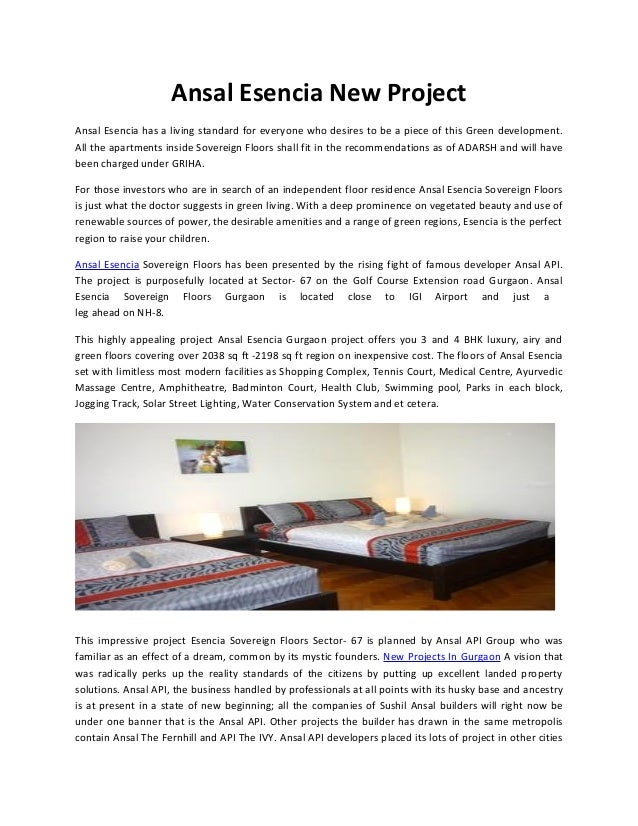 Ansal Esencia New Residential Project