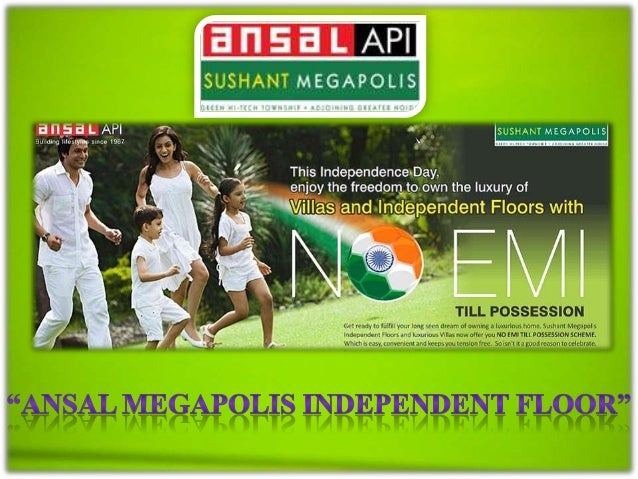 """Come to different city """"Ansal Megapolis"""" the most ambitious project of Ansal API Group till date. It's the largest and Gre..."""