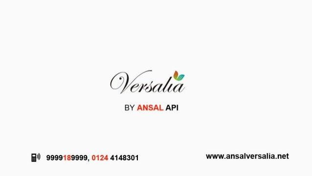 ansal versalia- ansal api new project | 9999189999 | sector 67a gurgaon