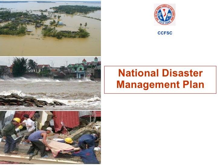 National Disaster Management Plan CCFSC