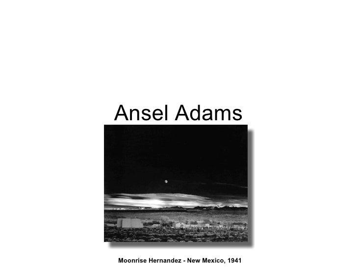 Ansel Adams Moonrise Hernandez - New Mexico, 1941
