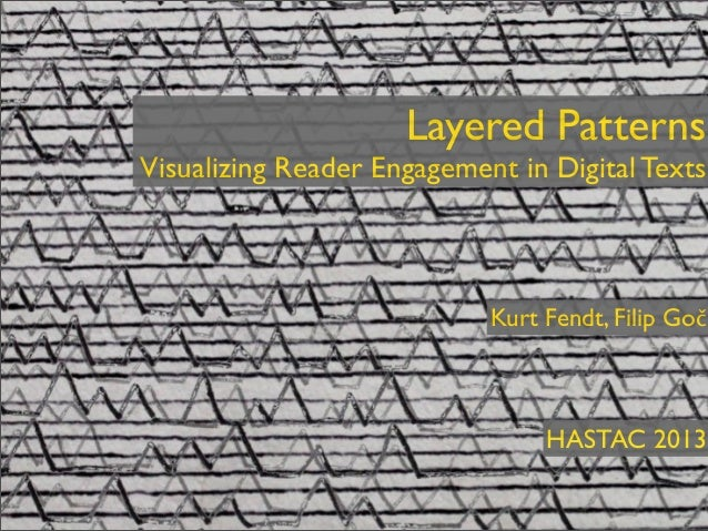 Layered Patterns Visualizing Reader Engagement in Digital Texts - HASTAC 2013, Toronto, Canada