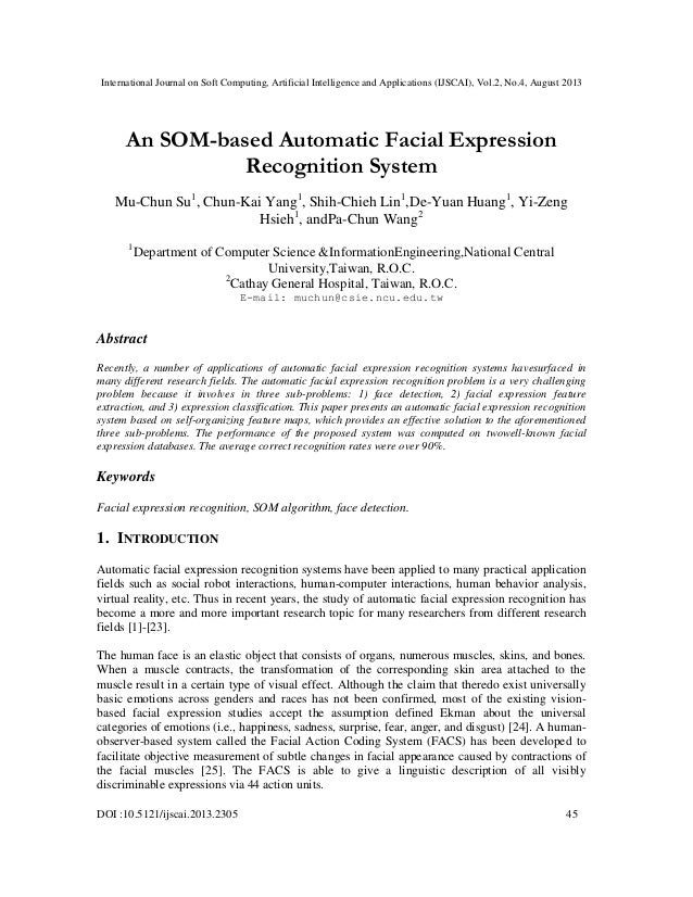 International Journal on Soft Computing, Artificial Intelligence and Applications (IJSCAI), Vol.2, No.4, August 2013 DOI :...