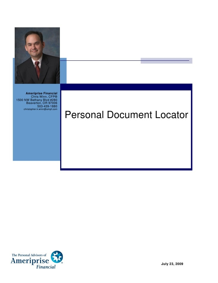 Ameriprise Financial         Chris Winn, CFP® 1500 NW Bethany Blvd #280       Beaverton, OR 97006              503-439-188...