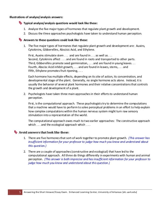 question and answer essays Writing good multiple choice test questions by cynthia j brame, cft assistant director print version cite this guide: brame, c, (2013) writing good multiple choice.