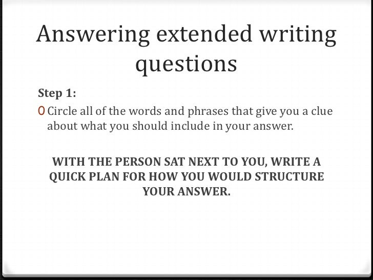 answering essay questions in exams Here is a sample exam question example essay question do pre-write your exam by having formulaic answers to key don't answer questions the professor.