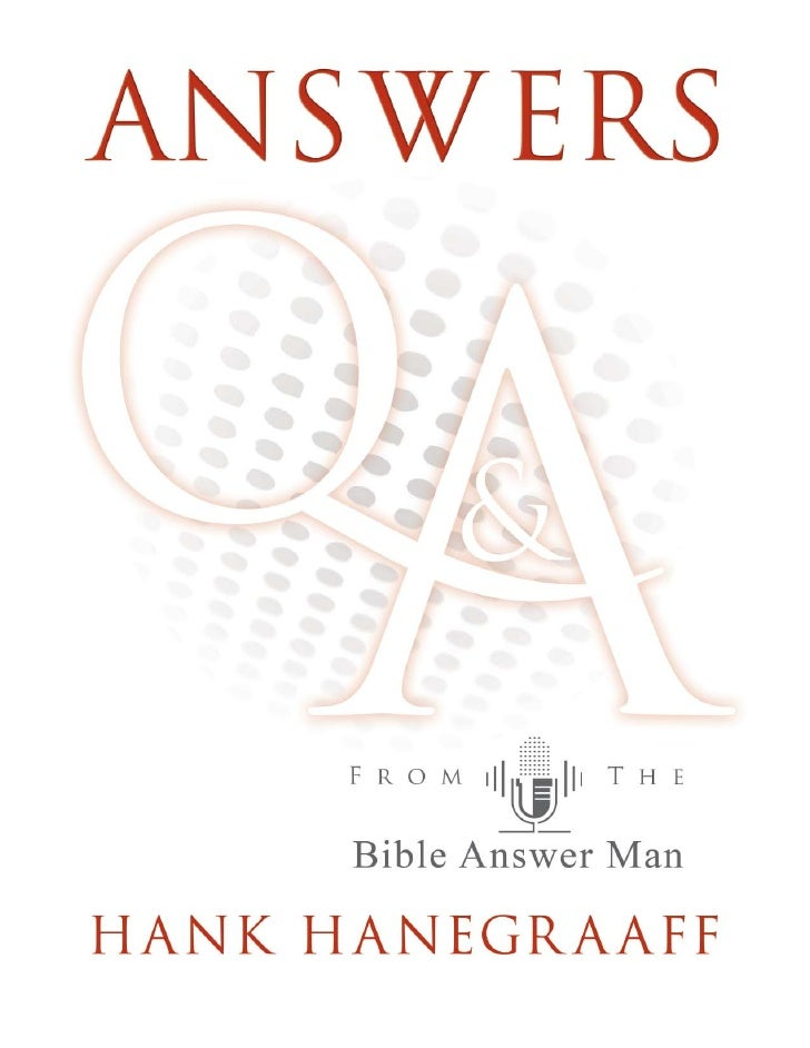 Answers from the host of the Bible Answer Man     broadcast—Hank Hanegraaff      Larry King has had the opportunity to pose...