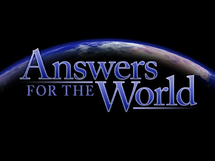 Answers for the World 02639