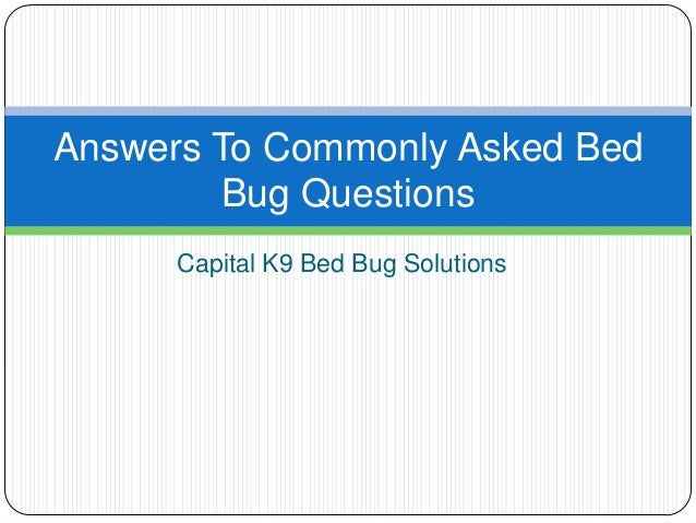 Capital K9 Bed Bug Solutions Answers To Commonly Asked Bed Bug Questions