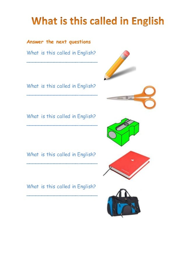 English question? ( what is...)?