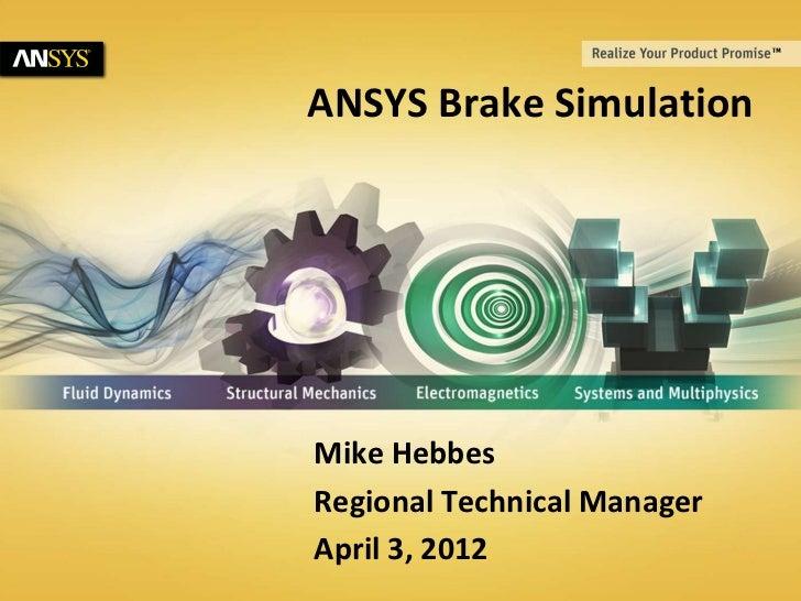 ANSYS Brake Simulation