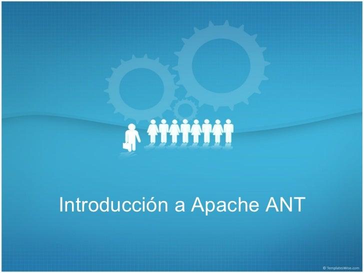 Introducción a Apache ANT