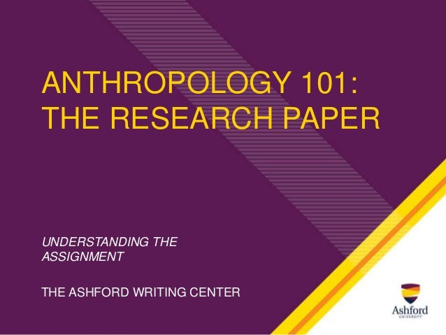 Anthropology Dissertation Outline