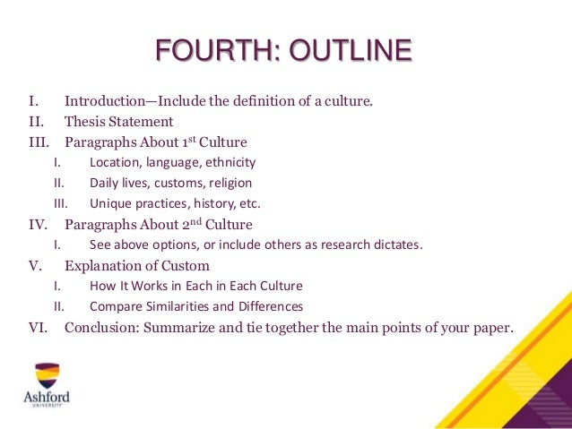 culture research paper outline