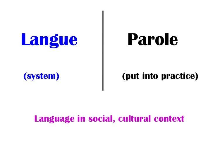language and parole La lecture et l'écriture, contrairement à la parole, ne font pas intervenir les zones du langage elles utilisent les mêmes mécanismes que la vision.