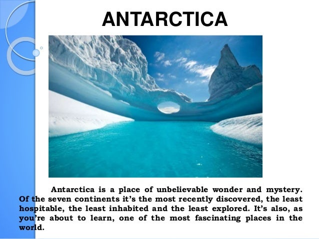 History And Fun Facts About Antactica on The Seven Continents Ppt Presentation