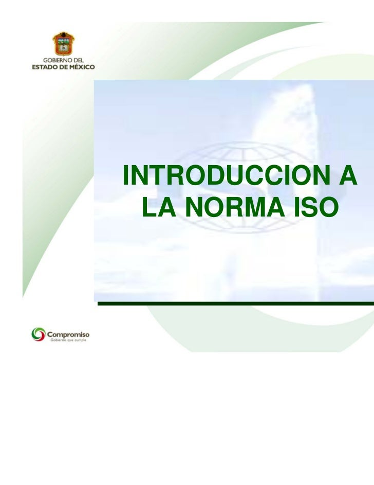 INTRODUCCION A  LA NORMA ISO