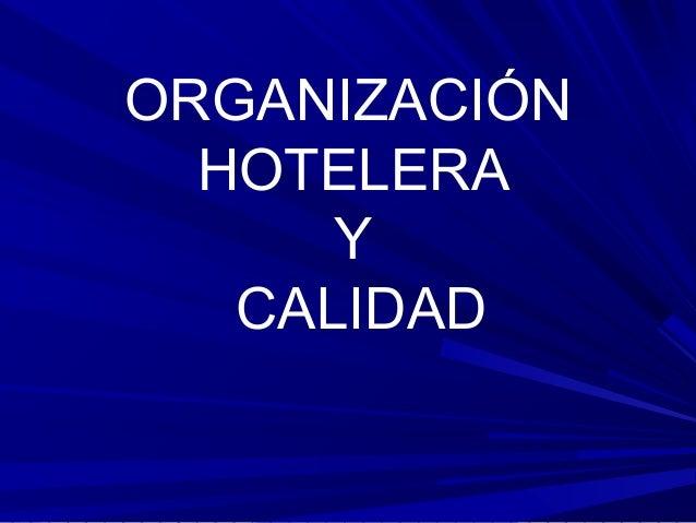 MAESTROS DE CALIDAD HOTELERA