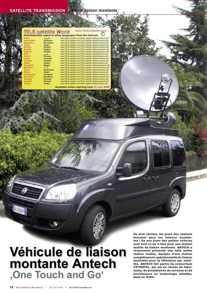 SATELLITE TRANSMISSION                                   Petite liaison montante                TELE-satelliteother langua...