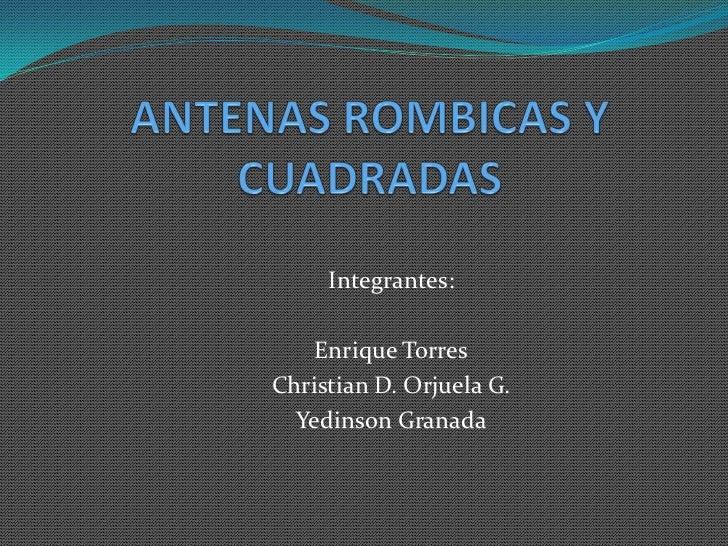 Antenas rombicas y cuadradas for Antenas parabolicas en granada