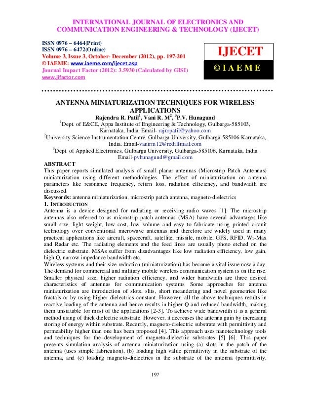 International INTERNATIONAL JOURNALEngineering & Technology (IJECET), ISSN 0976              Journal of Electronics and Co...