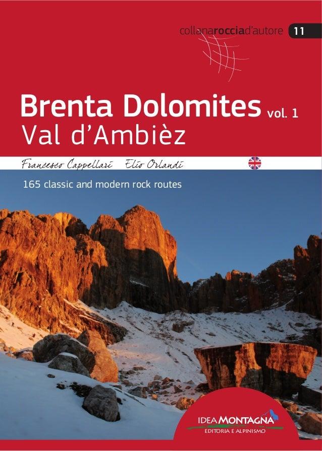 collanarocciad'autore 11 ideaMontagna editoria e alpinismo 165 classic and modern rock routes Brenta Dolomites Val d'Ambiè...