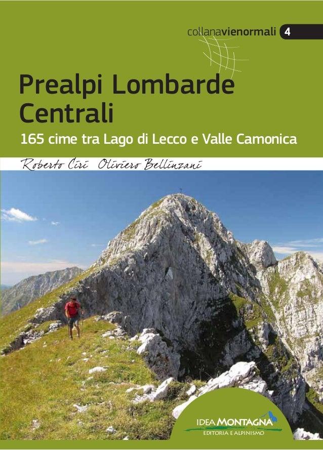 collanavienormali 4 PrealpiLombardeCentrali 4 € 29,00 ISBN 978-88-97299-33-2 9 788897 299332 > ideaMontagna editoria e alp...