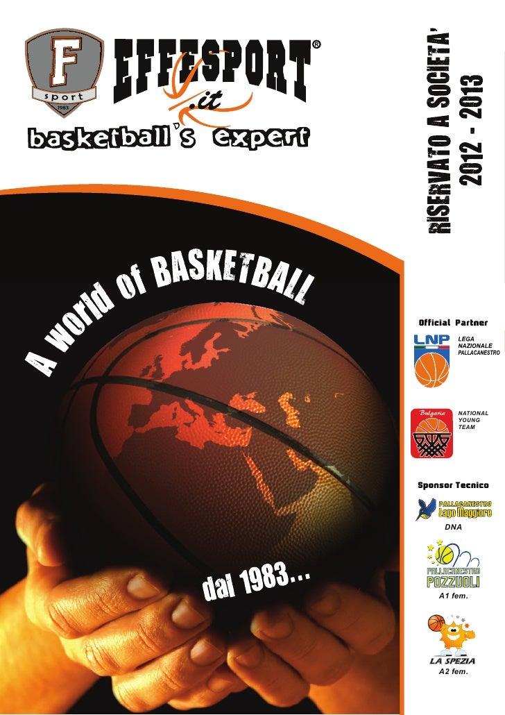 Anteprima catalogo effesport 2012 2013