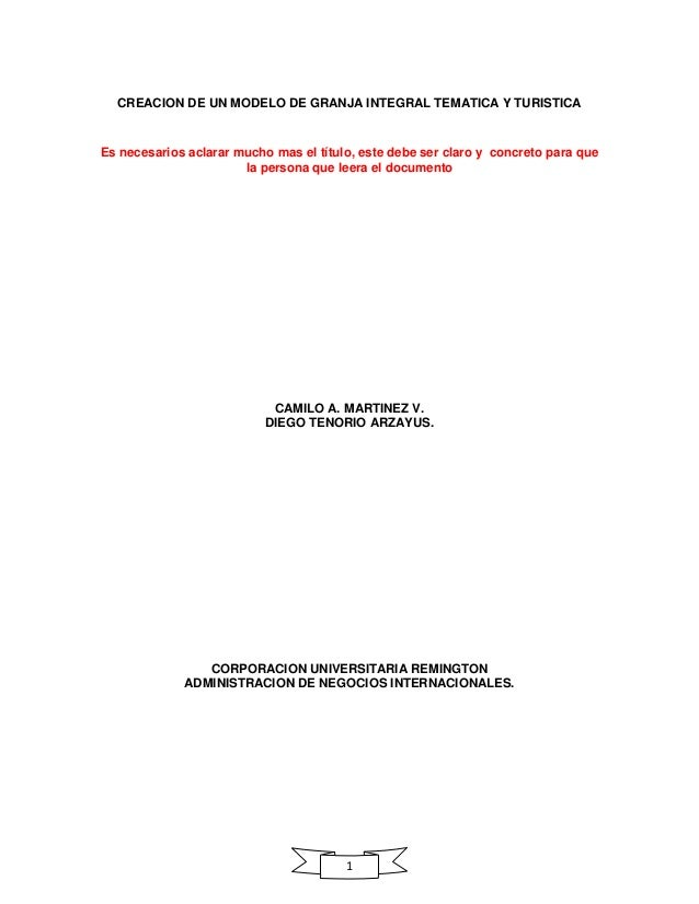 Anteproyecto granja integral tematica y turistica (1)