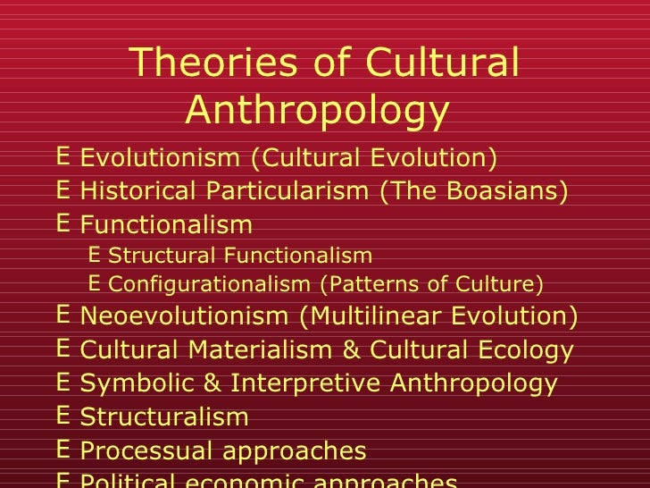 chapter 12 theory in cultural anthropology Anthropology 1100: cultural anthropology  mendelian genetics to accompany stein and rowe chapter 2  (from stein & rowe c 12.