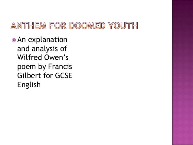 anthem for doomed youth analysis essay