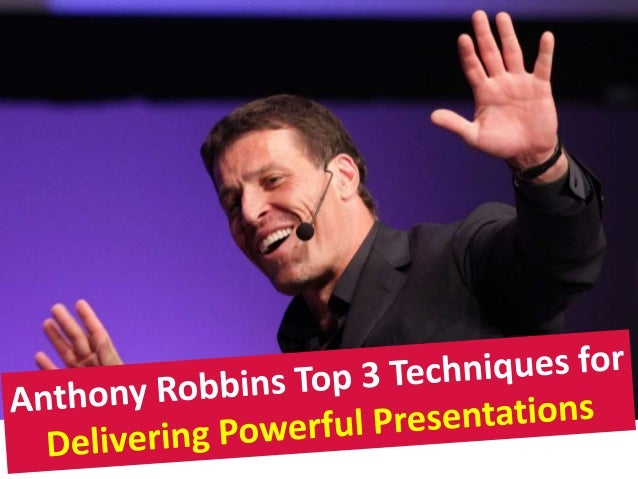 Anthony robbins public speaking secrets