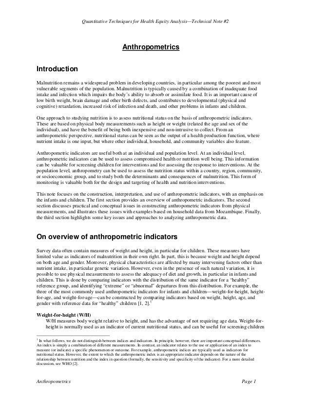 Anthropometric worldbank