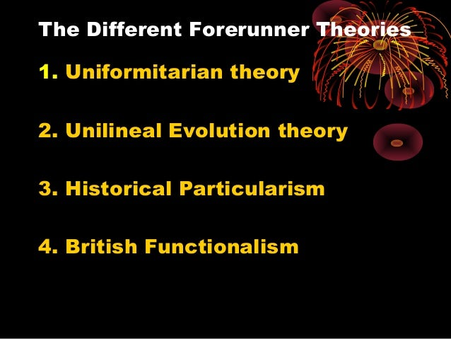 an analysis of unilineal cultural evolution to functionalism Anthropology syllabus for upsc mains exam  cultural evolution– broad outlines of  participatory methods (d) analysis and interpretation of data and.
