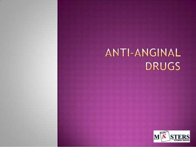 Pharmacology: Anti anginal drugs flashcards