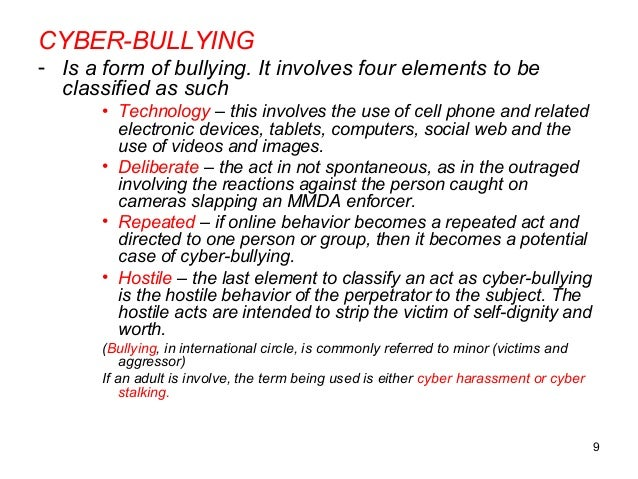 Cyberbullying thesis