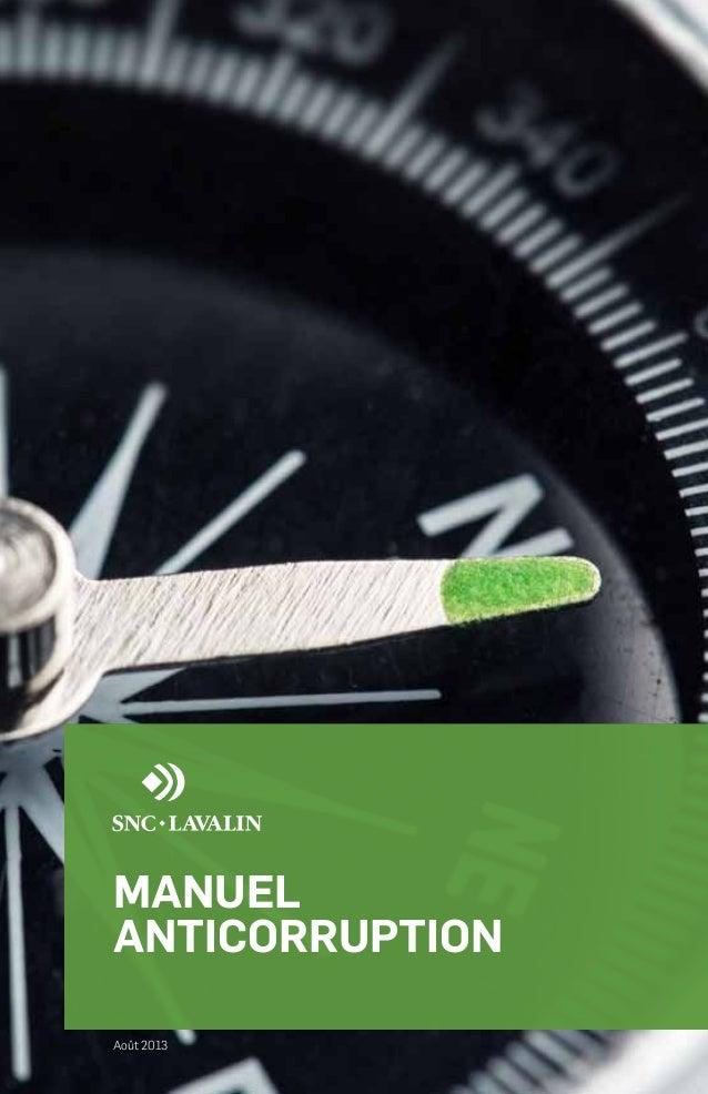 MANUEL ANTICORRUPTION Août 2013