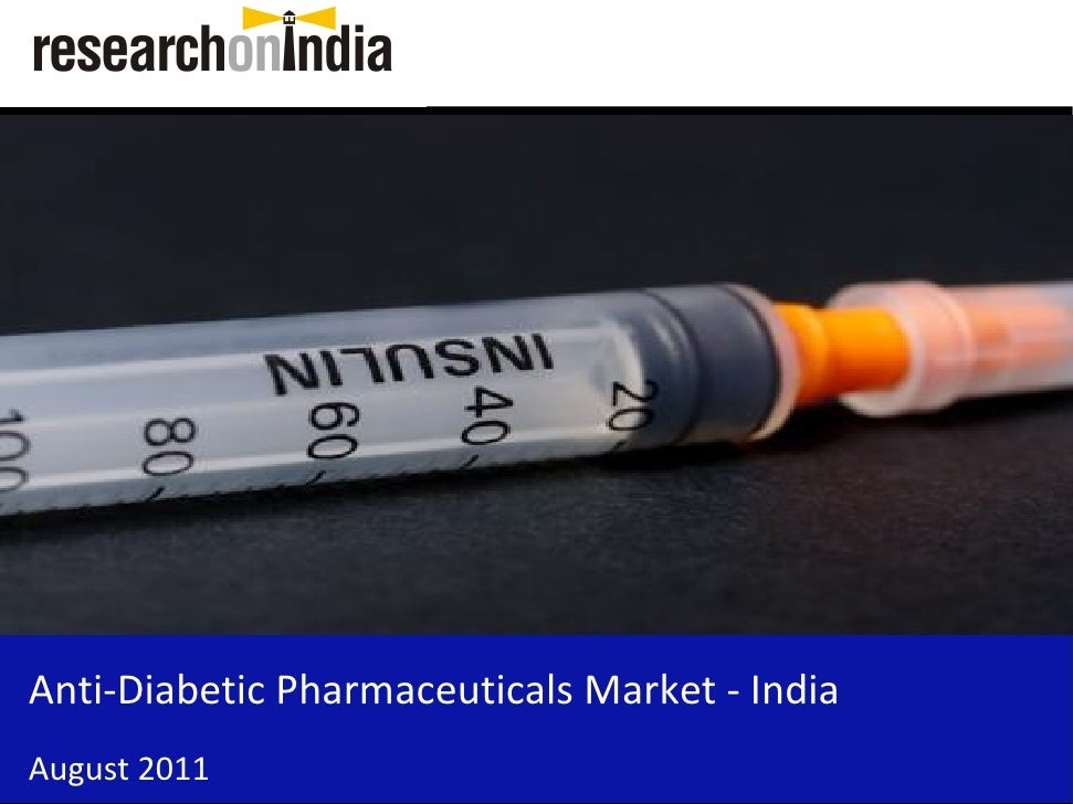 Insert Cover Image using Slide Master View                             Do not distortAnti-Diabetic Pharmaceuticals Market ...